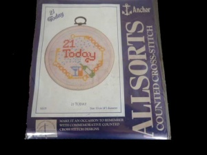 Anchor Counted Cross Stitch Kit - Twenty One Today