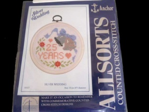 Anchor Counted Cross Stitch Kit - Silver Wedding
