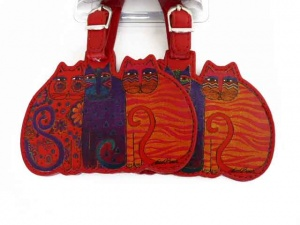 Laurel Burch Feline Friends Luggage Tags