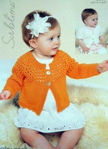 Sublime Little Miss Buttercup and Little Lacy Cardi Pattern