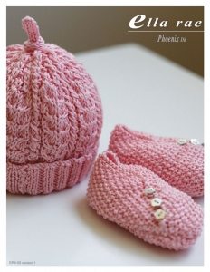 Ella Rae Cable Beanie and Booties Pattern