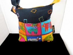 Laurel Burch Mythical Dogs Cross Body Bag