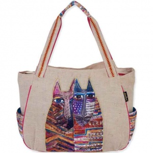 Laurel Burch Folklorica Gatos Shoulder Tote