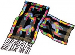 Laurel Burch Rainbow Horses Silk Scarf