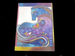 Laurel Burch ''Aquatic Mares'' Any Occasion Card