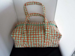 Milward Knitting Bag - Green Polka Dot
