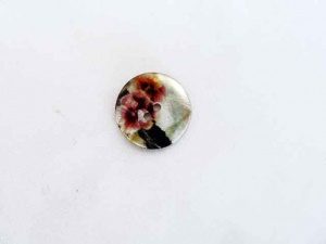 Rowan Pansy Enamelled Shell Buttons