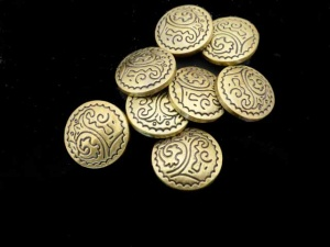 Antique Bronze Abstract Snap Buttons