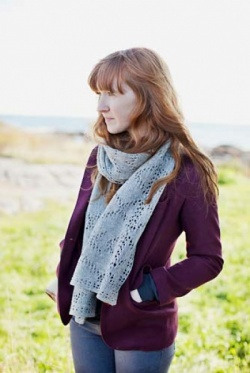 Brooklyn Tweed Wexford Geometric Lace Scarf