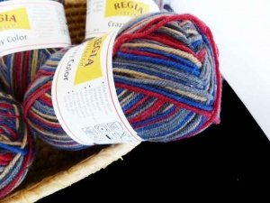 Regia 4 Ply  Wool Stretch Crazy Color  #113 - Inca
