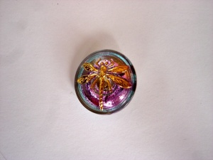 Dragonfly Buttons - Blue / Mauve - Small Size