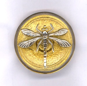 Dragonfly Buttons - Gold