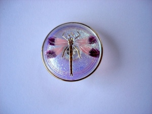 Dragonfly Buttons - Pink / Mauve