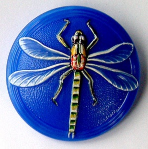 Dragonfly Buttons - Royal Blue - Large Size