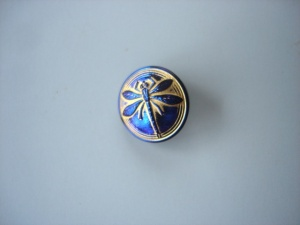 Dragonfly Buttons - Royal/Gold - Small Size