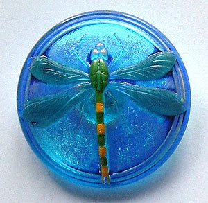 Dragonfly Buttons - Turquoise - Large Size
