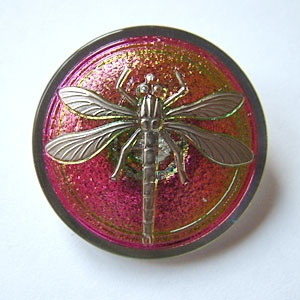 Dragonfly Buttons - Wine
