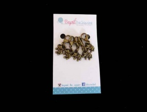 Bronze Elephant Locking Stitch Markers