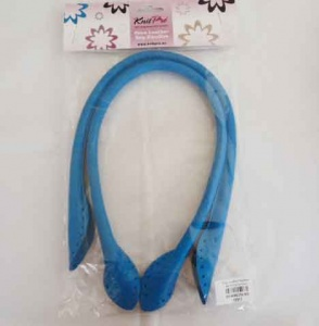 Knit Pro Faux Leather Bag Handles - Turquoise