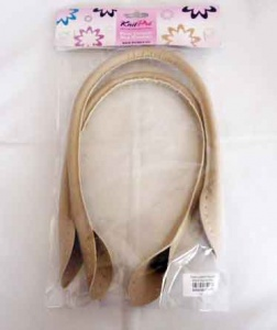 Knit Pro Faux Leather Bag Handles - Beige