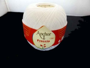 Anchor Freccia 3 Ply Crochet Thread #01 - 100g Balls