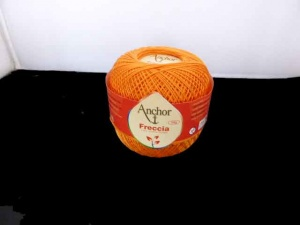 Anchor Freccia 3 Ply Crochet Thread #314 - Clementine