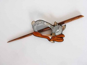 Deer Shell Shawl Pin Set