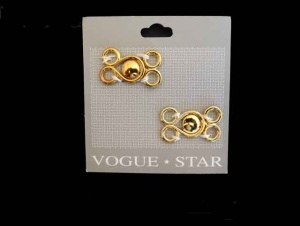 Vogue Star Gold Frog Fasteners