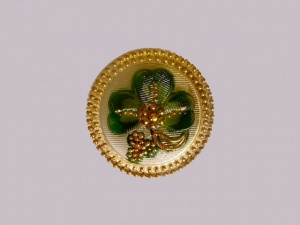 Green and Gold Clover Leaf Buttons