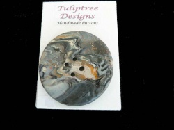 Tuliptree Circular Jumbo Grey Button