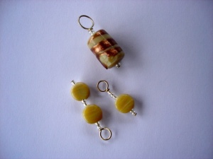 Knit Pro Zooni Beaded Stitch Markers - Earthy Brown