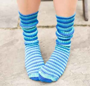 West Yorkshire Spinners Blue Lagoon Socks