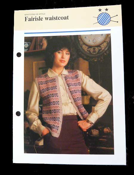 Knitting in Style Fairisle Waistcoat | Jannette's Rare Yarns