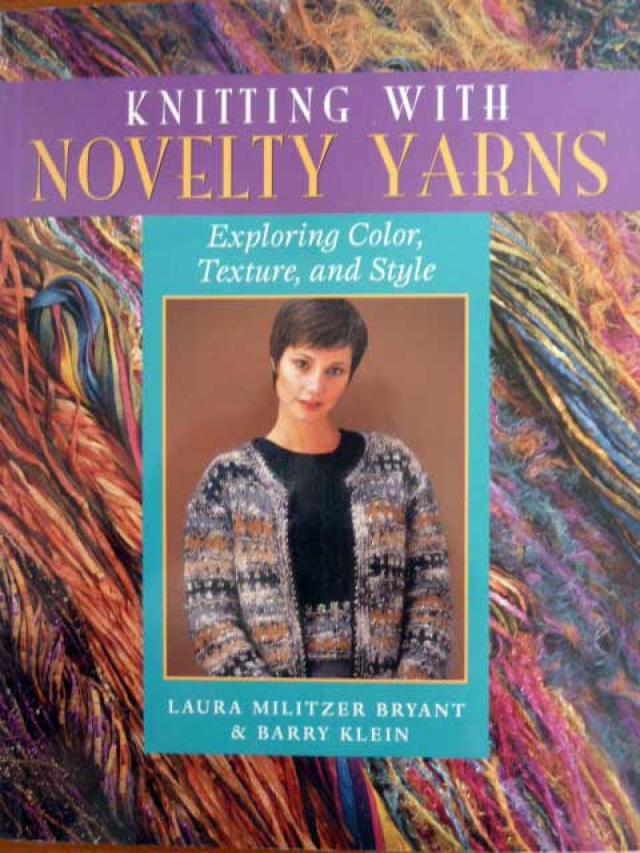 Novelty Knitting Pattern Books : Knitting with Novelty Yarns Jannettes Rare Yarns