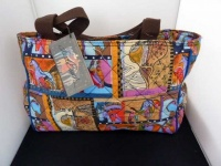 Laurel Burch Horse Collage Quilted Medium Tote
