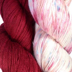 Artyarns Night Shift Shawl Kit in Red