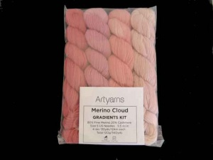 Artyarns Merino Cloud Gradients Kit in Peach Blossom