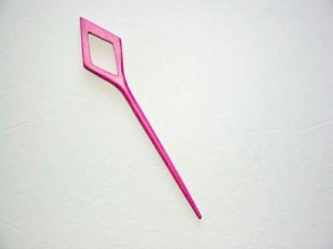 Pollika Diamond Single Stick Shawl Pin - Fuchsia