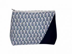 Knit Pro Reverie Triads Navy Zipper Pouch