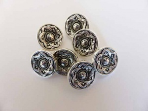 Small ''Silver'' Celtic Buttons