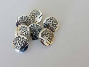 ''Silver'' Tree Buttons