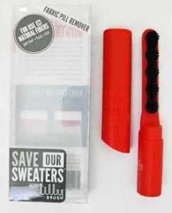Save Our Sweaters -  Red Lilly Pill Removing Brush