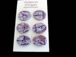 Tuliptree Purple Oval Abstract Buttons
