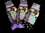 Laurel Burch Celestial Cat Socks - Purple Colourway