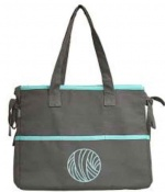 Mili Style Silk Chloe Grey / Aqua Knitting Bag