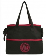 Mili Style Silk Chloe Black / Red Knitting Bag