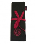 Mili Style Silk Chloe Black / Red Crochet Hook / DPN Case