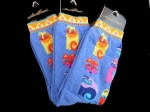 Laurel Burch Feline Fest Socks - Blue Colourway