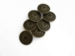 ''Bronze'' Engraved Metal Buttons