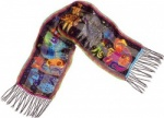 Laurel Burch Dogs and Doggies Silk Scarf